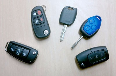photograph of various car keys