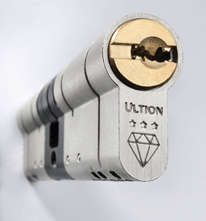 photograph of an ultion anti-snap cylinder lock